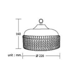 ความกว้างและความสูงโคมไฮเบย์ LED (HBA) 100W (เดย์ไลท์) BEC