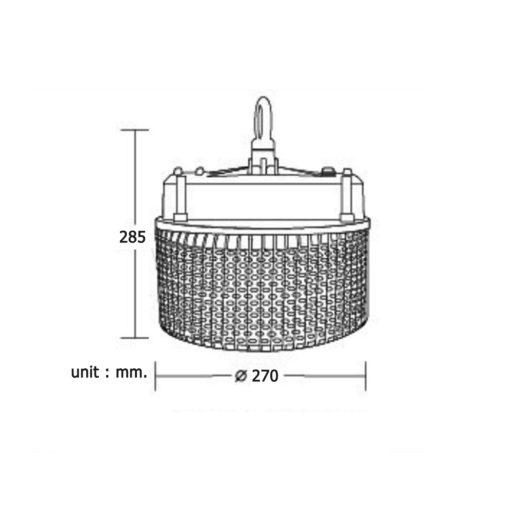 ข้อมูลโคมไฮเบย์ LED (HBA) 200W (เดย์ไลท์) BEC