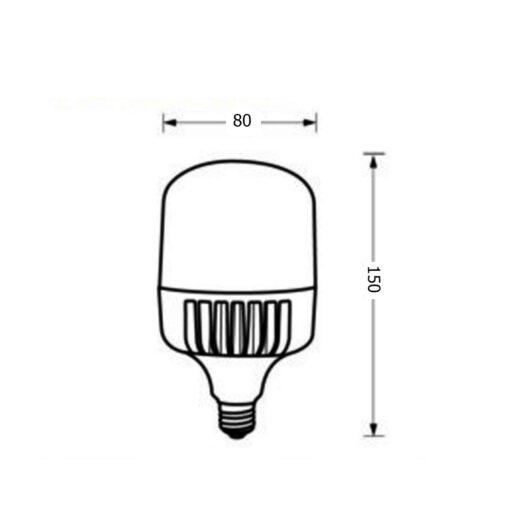 ขนาดหลอดไฟไฮเบย์ LED Highwatt Shop Bulb 20W (เดย์ไลท์) EVE