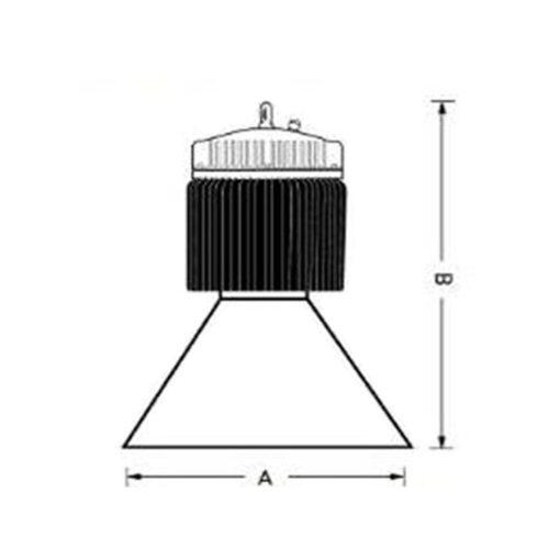 ขนาดโคมไฮเบย์ LED (LUX-HB) 300W (เดย์ไลท์) EVE