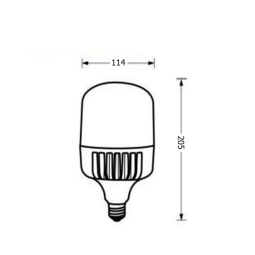 ขนาดหลอดไฟไฮเบย์ LED Highwatt Shop Bulb 40W (เดย์ไลท์) EVE