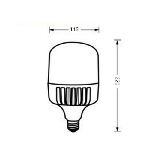 ขนาดหลอดไฟไฮเบย์ LED Highwatt Shop Bulb 50W (เดย์ไลท์) EVE
