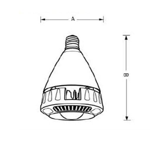 ขนาดหลอดไฟไฮเบย์ LED EVE 90W (เดย์ไลท์)