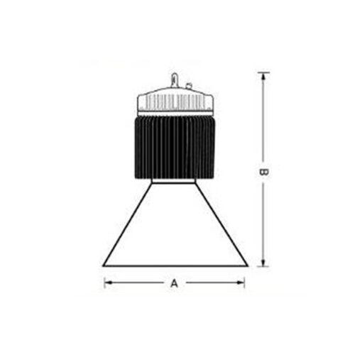 โคมไฮเบย์ LED (LUX-HB) 200W (เดย์ไลท์) EVE