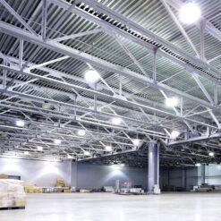 ผลงานโคมไฮเบย์ LED 50W (วอร์มไวท์) IWACHI