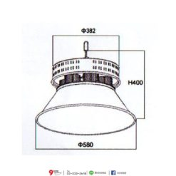 ขนาดโคมไฮเบย์ LED 300W (วอร์มไวท์) NEOX