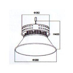 ขนาดโคมไฮเบย์ LED 400W (คูลไวท์) NEOX