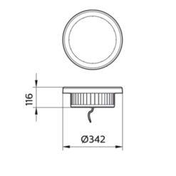 ขนาดของโคมไฮเบย์ LED SmartBright BY228P Philips 200W (CW)
